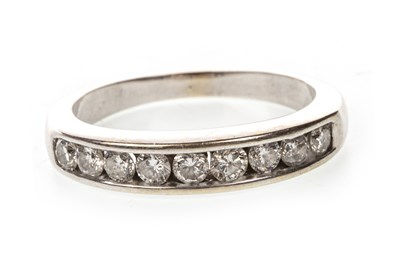 Lot 2-A DIAMOND HALF ETERNITY RING