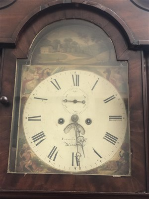 Lot 1431-AN EARLY 19TH CENTURY LONGCASE CLOCK
