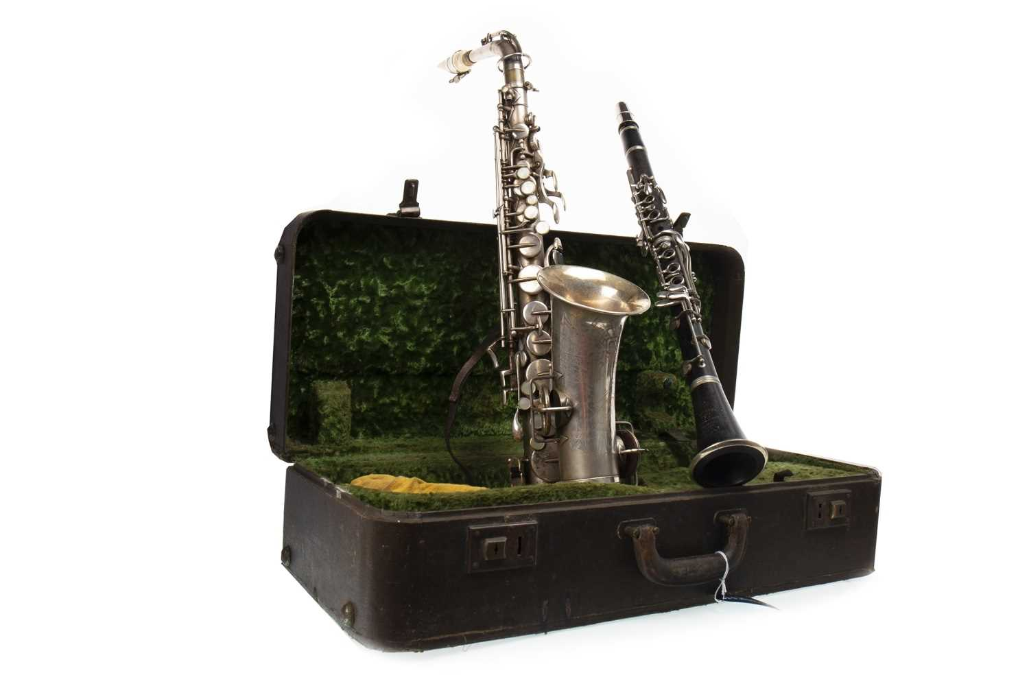 Lot 1409-A RUESCHER ARISTOCRAT SAXOPHONE WITH CLARINET