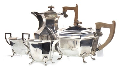 Lot 878-A GEORGE VI SILVER FOUR PIECE TEA AND COFFEE SERVICE