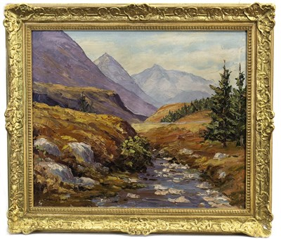 Lot 628-LANDSCAPE, AN OIL BY CHARLES DALE