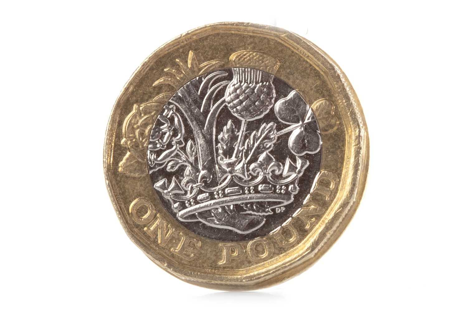 Lot 600-A MISTRIKE £1 ONE POUND COIN DATED 2017