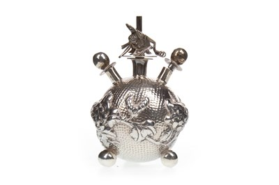 Lot 1004-A CHINESE SILVER OPIUM BURNER