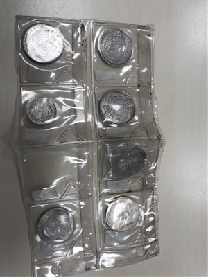 Lot 602-A GROUP OF 19TH CENTURY AND OTHER SILVER AND OTHER COINS