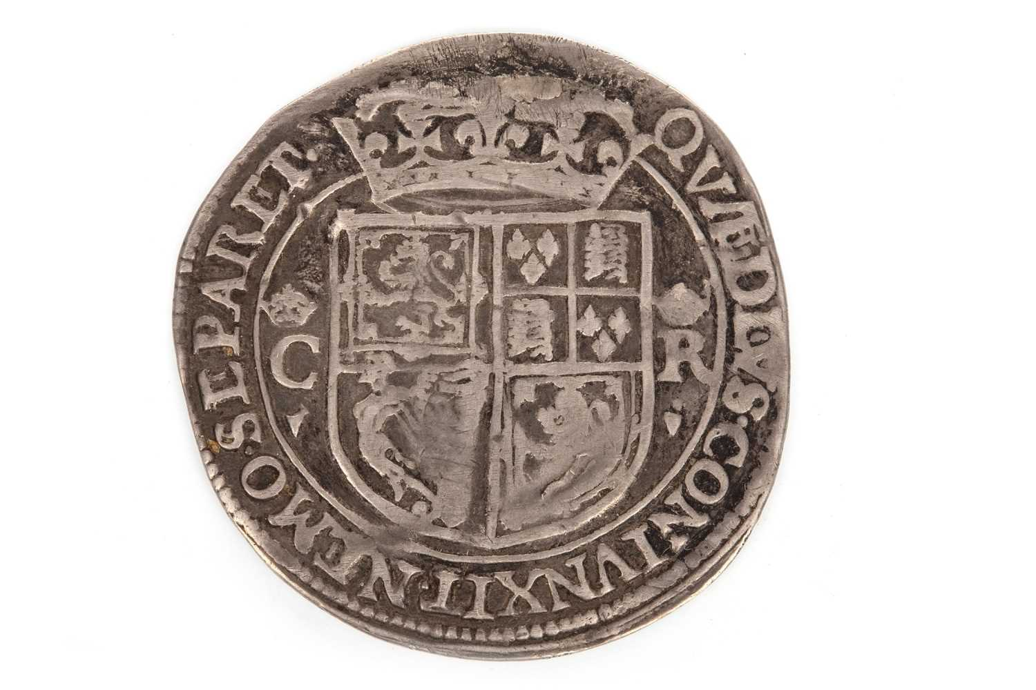Lot 603-A SCOTTISH SILVER CHARLES I 12 SHILLING COIN