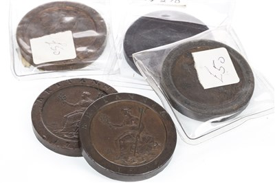 Lot 606-FIVE CARTWHEEL PENNIES