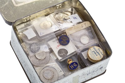 Lot 607-A GROUP OF SILVER AND OTHER UK COINS
