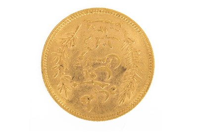 Lot 610-A GOLD TUNISIE 10 FRANCS COIN, 1891