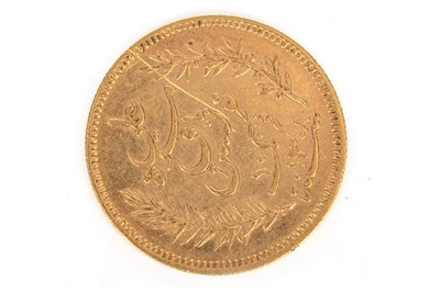 Lot 612-A GOLD TUNISIE 10 FRANCS COIN, 1891