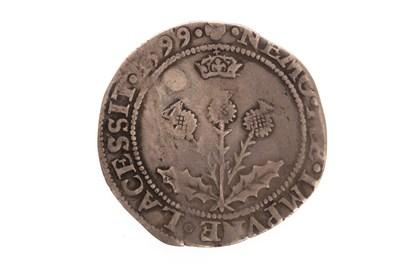 Lot 614-A SCOTTISH SILVER JAMES VI SHILLING COIN