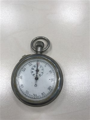 Lot 845-TWO WRIST WATCHES AND FOUR POCKET WATCHES