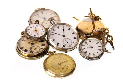 Lot 849-A GROUP OF POCKET AND FOB WATCHES