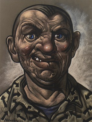 Lot 566-A PASTEL ON PAPER BY PETER HOWSON