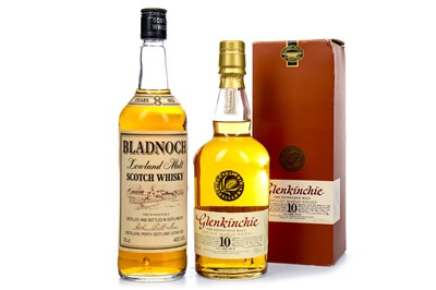 Lot 311-BLADNOCH 8 YEARS OLD AND GLENKINCHIE 10 YEARS OLD