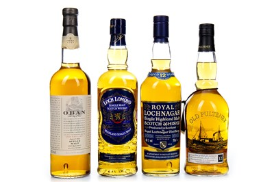 Lot 313-FOUR HIGHLAND SINGLE MALT WHISKIES