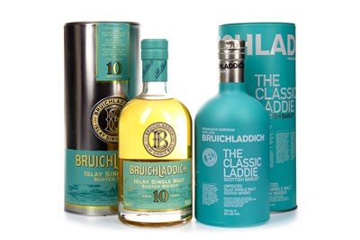Lot 314-BRUICHLADDICH CLASSIC LADDIE AND 10 YEARS OLD