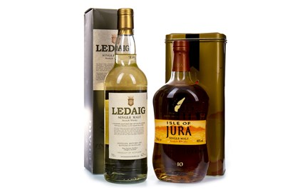 Lot 318-JURA AGED 10 YEARS AND LEDAIG