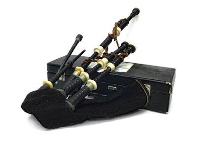 Lot 3-A SET OF HIGHLAND BAGPIPES