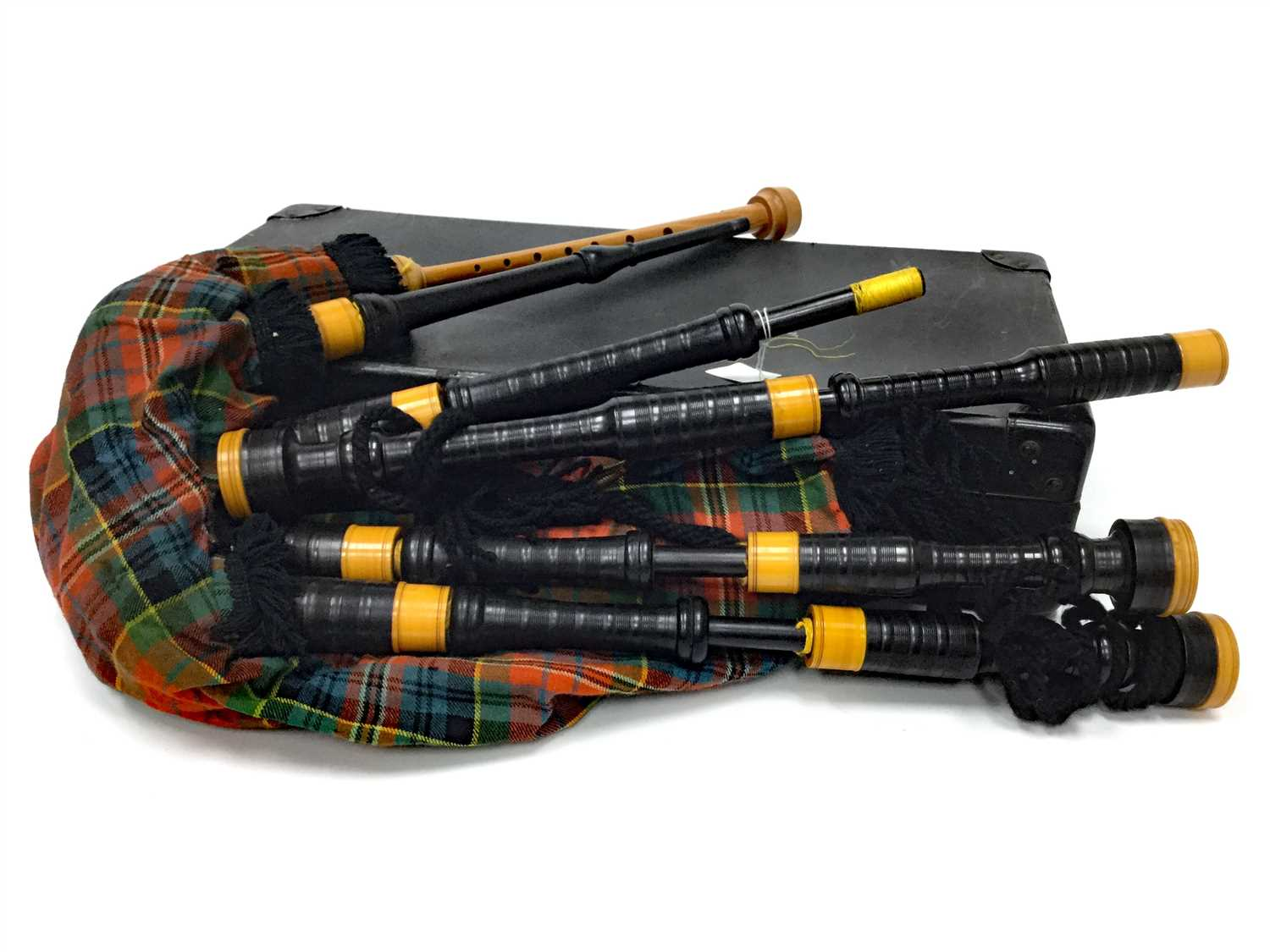 Lot 9-A SET OF HIGHLAND BAGPIPES