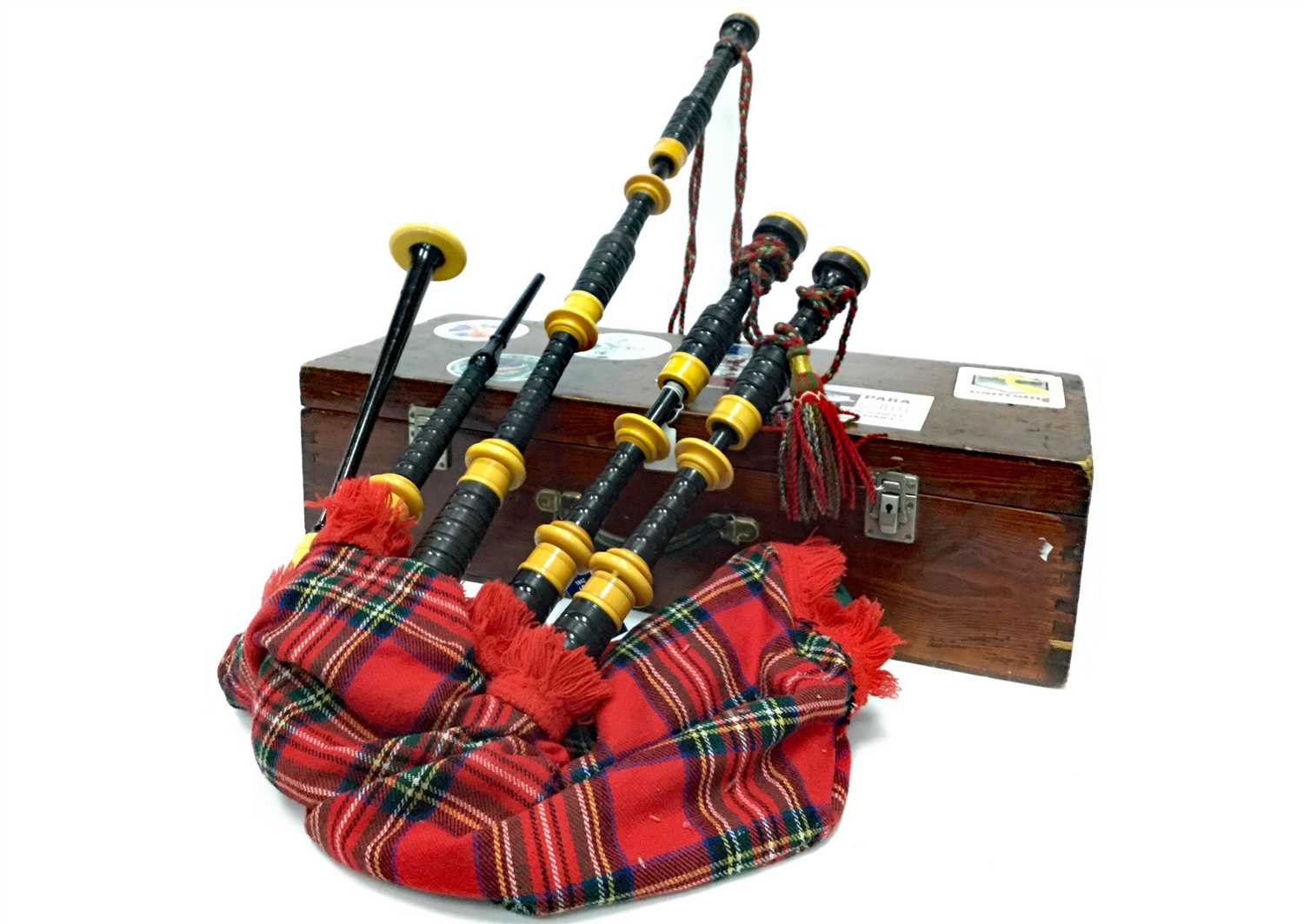 Lot 13-A SET OF HIGHLAND BAGPIPES POSSIBLY BY R.G. HARDIE OF GLASGOW