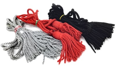 Lot 23-A LOT OF TEN BAGPIPE CORDS