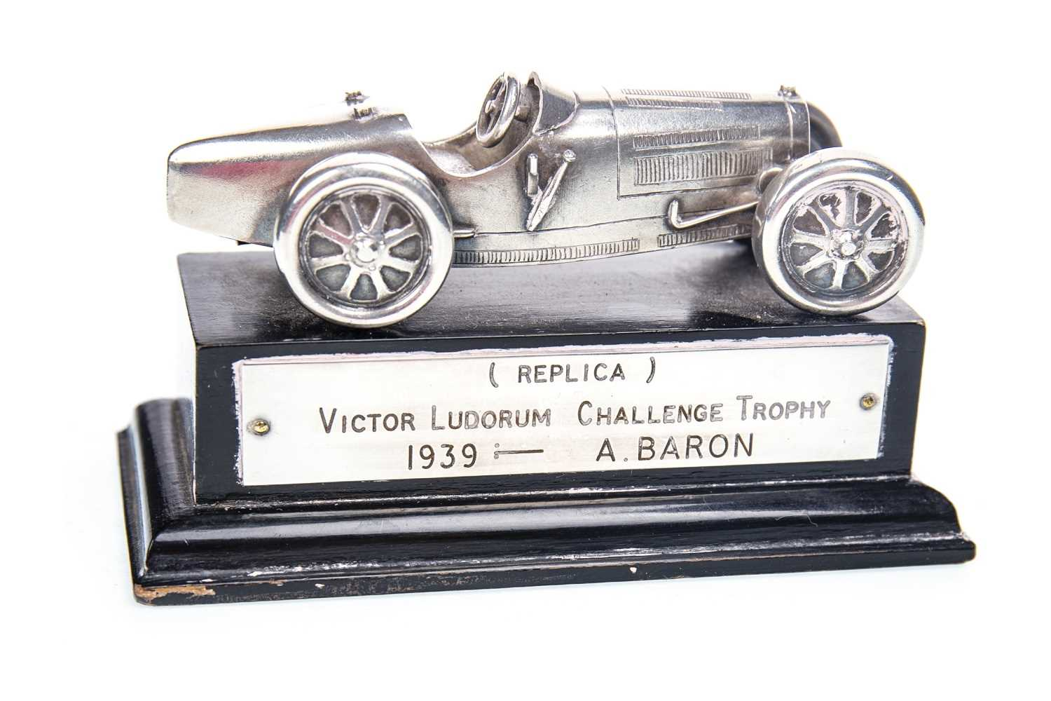 Lot 1907-BUGATTI INTEREST - EARLY 20TH CENTURY REPLICA VICTOR LUDORUM CHALLENGE TROPHY AWARDED TO A. BARON