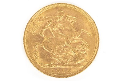 Lot 630-A GOLD SOVEREIGN DATED 1902