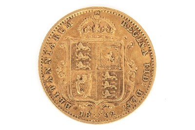 Lot 631-A GOLD HALF SOVEREIGN, 1892
