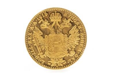 Lot 632-A GOLD AUSTRIAN COIN, 1915
