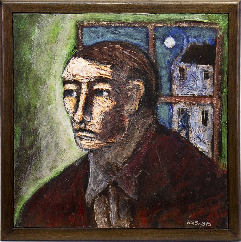 Lot 564-PORTRAIT OF A MAN, AN OIL BY HUGH GERARD BYARS