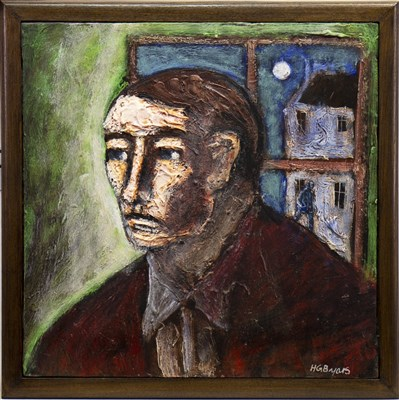 Lot 564-PORTRAIT OF A MAN, AN OIL BY HUGH GERARD BYARS