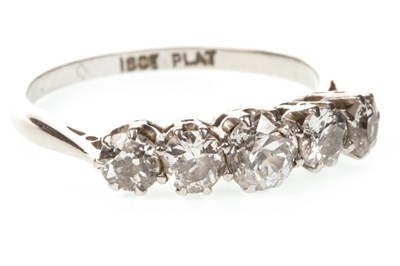 Lot 55-A DIAMOND FIVE STONE RING