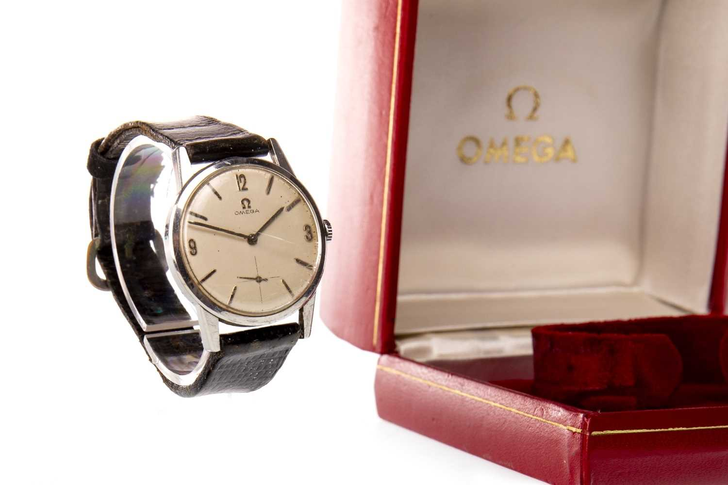 Lot 758-A GENTLEMAN'S OMEGA STAINLESS STEEL WATCH