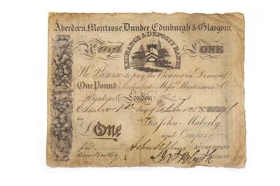 Lot 638-AN ABERDEEN, MONTROSE, DUNDEE, EDINBURGH & GLASGOW £1 NOTE 1825