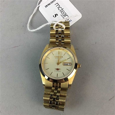 Lot 5-A GENTLEMAN'S CITIZEN AUTOMATIC GOLD PLATED WRIST WATCH