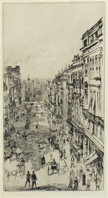 Lot 415-SY JAMES'S STREET (LONDON) AN ETCHING AND DRYPOINT BY WHISTLER