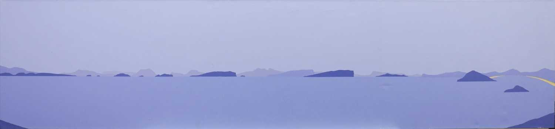 Lot 537-HEBRIDEAN BLUE, AN OIL BY IAIN CARBY