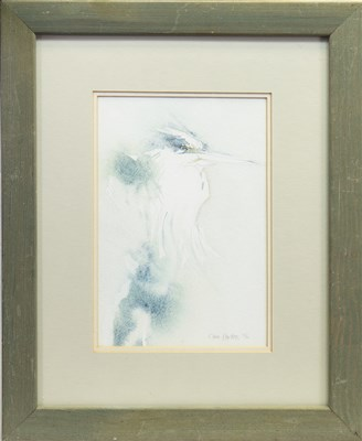 Lot 534-KINGFISHER, A WATERCOLOUR BY CLAIRE HARKESS