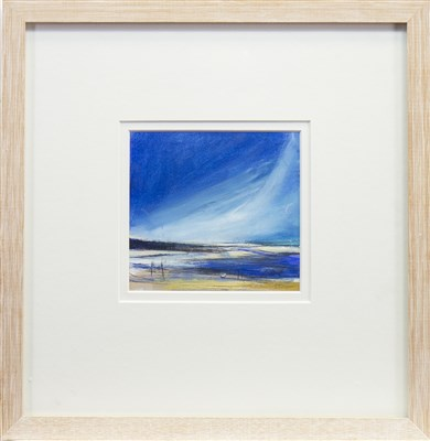 Lot 529-STORM CLOUDS, CRAMMOND, A MIXED MEDIA BY SARAH CARRINGTON