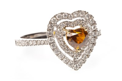 Lot 25A-A HEART SHAPED DIAMOND DRESS RING
