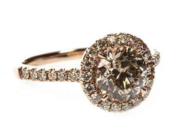 Lot 30A-A CERTIFICATED DIAMOND DRESS RING