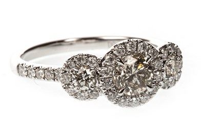 Lot 80A-A CERTIFICATED DIAMOND DRESS RING