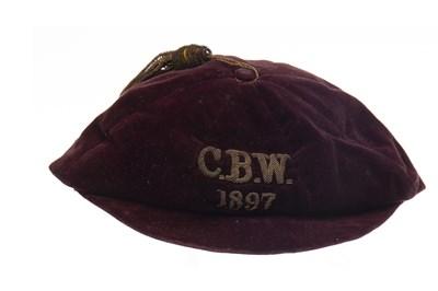 Lot 1909-A LATE 19TH CENTURY FOOTBALL CAP