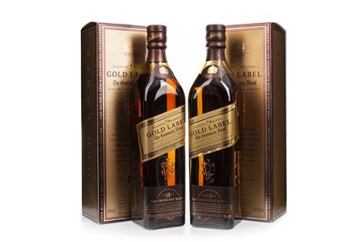 Lot 428-TWO BOTTLES OF JOHNNIE WALKER GOLD LABEL CENTENARY BLEND AGED 18 YEARS