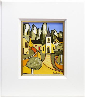 Lot 628-ST ENIME, AN OIL BY IAIN CARBY
