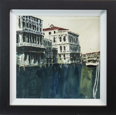 Lot 526-COLOURS OF VENICE I, AN OIL BY SUSAN BROWN