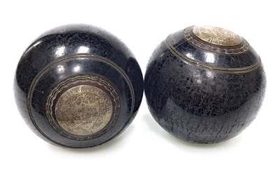 Lot 1912-A PAIR OF EARLY 20TH CENTURY PRESENTATION LAWN BOWLS