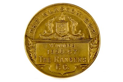 Lot 1933-BOBBY SHEARER 'CAPTAIN CUTLASS' OF RANGERS F.C. - HIS GLASGOW CUP WINNERS GOLD MEDAL 1957