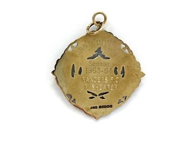 Lot 1947-BOBBY SHEARER 'CAPTAIN CUTLASS' OF RANGERS F.C. - HIS S.F.L CHAMPIONSHIP GOLD MEDAL 1964
