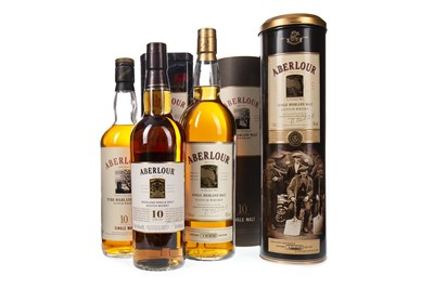 Lot 302-ABERLOUR 1990 AND TWO ABERLOUR 10 YEARS OLD